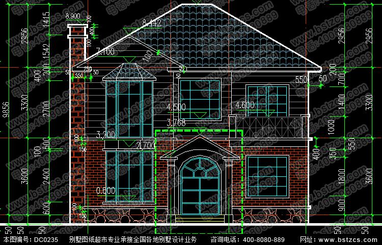 二层带阳台小别墅设计图纸_别墅图纸超市,鼎川建筑图片