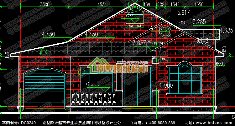 一层带阁楼及车库小别墅设计图纸_别墅图纸超市,农村小平房设计图纸