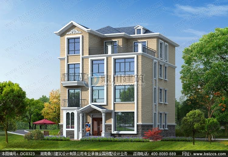 复式四层带露台别墅全套设计施工图纸_四层别墅设计图纸,鼎川建筑