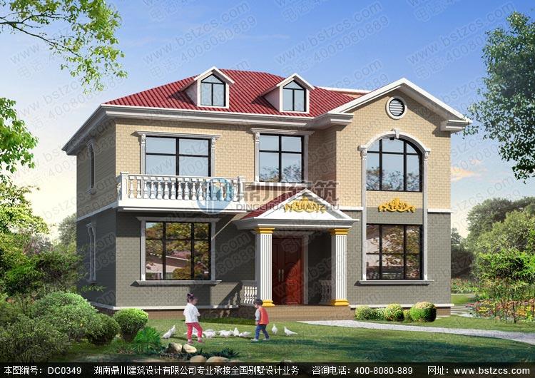 农村二层带露台小别墅设计图纸_农村自建房设计图,鼎川别墅图纸